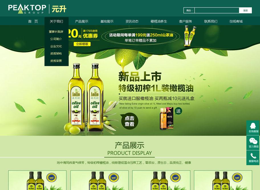 元升农业科技公司亚搏娱乐官网设计